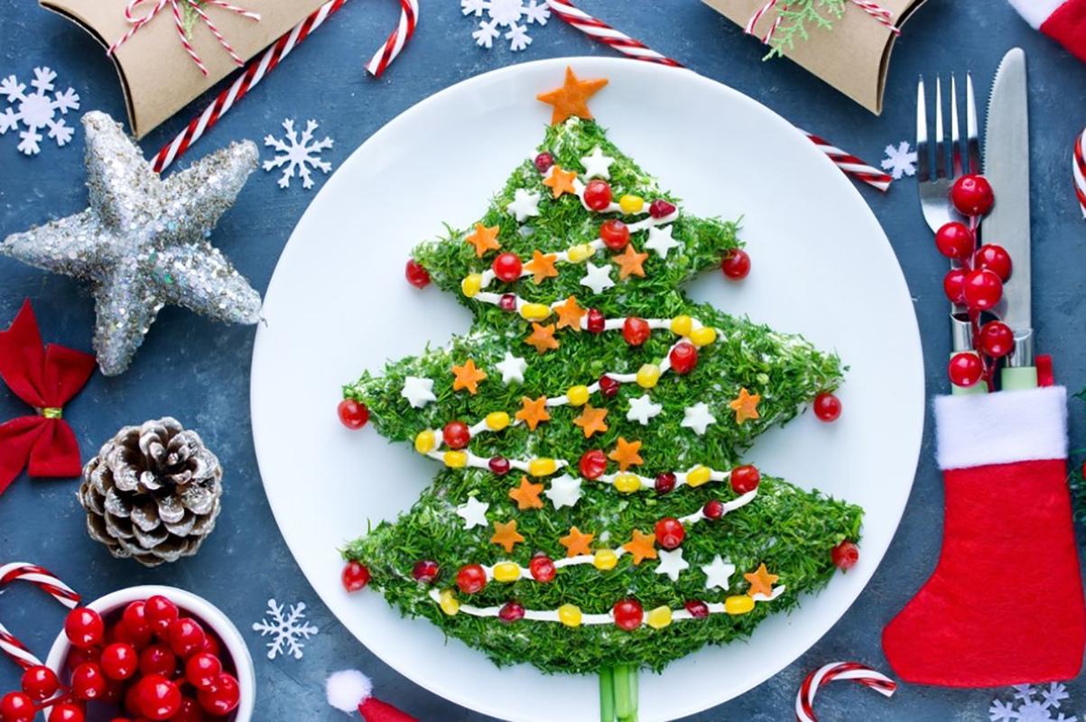 Украшение стола на Новый год 2020 (для новогодних блюд)